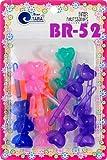 Tara Girls Super Cute Self Hinge Plastic Mulit Design Hair Barrettes Selection (BR52)