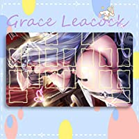 GraceLeacock カードゲームプレイマット 遊戯王 プレイマット Azur Lane アズールレーン Prinz Eugen プリンツ・オイゲン アニメグッズ TCG万能 収納ケース付き アニメ 萌え カード枠あり (60cm * 35cm * 0.2cm)