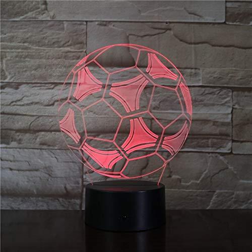 jiushixw 3D acryl nachtlampje met afstandsbediening kleurverandering tafellamp is zilver glas tafellamp