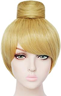 JoneTing Blonde Wig Short Straight Wig Synthetic Wig Yellow Wig for Movie Cosplay Wig