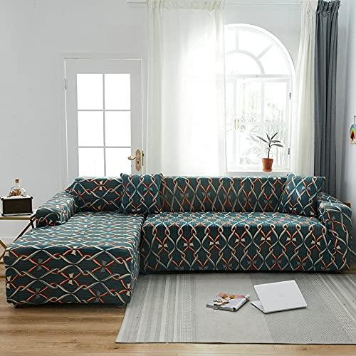 PPOS Fundas de sofá de Esquina para línea sofá Funda de sofá elástica en Forma de l Chaise Longue Fundas de sofá undefined 1-2-3-4 Funda de cojín de Asiento C12 3 Asientos 190-230cm-1pc