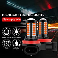 H11 H8 H4 H7 9005 9006 LEDフォグライト電球、非常に明るい車のDRLドライビングフォグランプ5730 33SMD 12Vホワイト/アンバー/レッド/ブルー/ピンク (Emitting Color : Blue, Socket Type : H7)