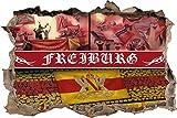 Ultras Freiburg, 3D Wandsticker Format: 92x62cm,