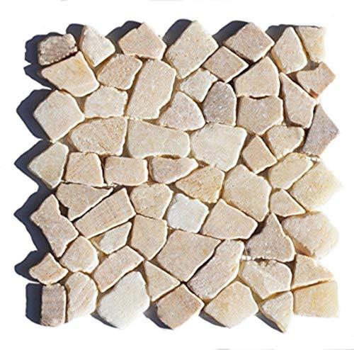 Mosaikfliesen - M-011 Onyx Bruchstein-Mosaik Badfliesen Bodenfliesen Wandfliesen - Naturstein Fliesen Lager Verkauf Stein-Mosaik Herne NRW