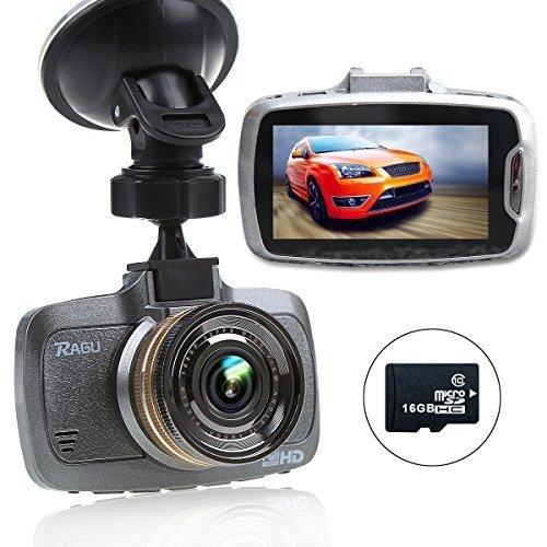 RAGU Nuova Versione Telecamera per Auto 1080P HD Registrazione Video DVR con Carta di TF 16GB