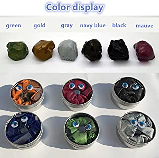 GracesDawn 6 Set Magnetic Putty Slime Super Stress Reliever Infused with Iron Relaxing Fun A Set of A Set of 6 Boxes, 6 Colors(Gold,red,Green,Gray,Navy Blue,Black,Mauve Once to Meet All