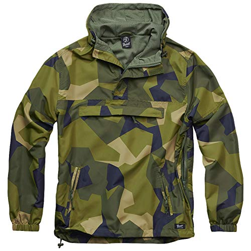 Brandit Summer Windbreaker, Swedish Camo, M