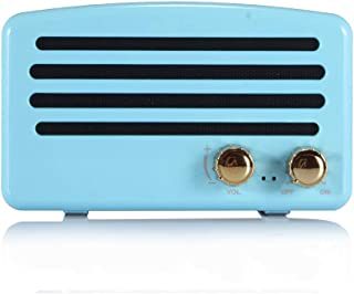 Portable Radio, Digital FM Radio, Wireless Bluetooth Speaker, Knob Adjustment with Stereo,FM Radio Function,Blue