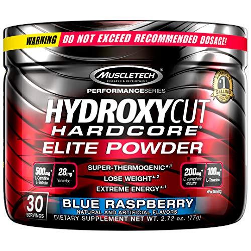 MuscleTech Hardcore Elite Powder Blue Raspberry 30 Servings