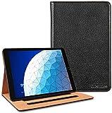 LENSUNFundaiPadAir3/iPadPro10,5',CarcasadeCueroGenuinoconAutoReposoActivaciónyFuncióndeSoporteMultiánguloCaseLibroparaiPadAir3ªGeneración2019/iPadPro2017-Negro(IPA3-BK)