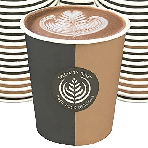 Vaso reciclable desechable de cartón de papel, bebidas calientes frías y café expreso, 500 unidades
