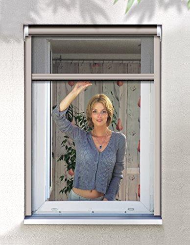 Schellenberg 50567 Insektenschutz Klemmrollo PREMIUM/Fliegengitter Klemmrollo für Fenster – 160 x 160 cm in Creme
