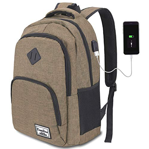 School Backpack,15.6 Inch Backpack for Travel,Water Resistant Laptop Backpack with USB Charging Port