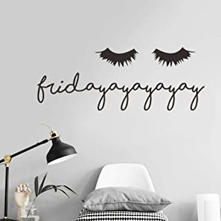 Lznxzq Wall Sticker Sexy Eyelashes Vinyl Wall Sticker Living Room Bedroom Home Decoration Decals Art Text Stickers Wallpaper Beauty Makeup Poster