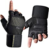 FREETOO Pro Weight Lifting Workout Gloves for Men, [Heavier Wrist Support] [Stronger Grip] Extra Padded Gym Gloves Ventilated Strength Training Gloves for Advanced Workout-L