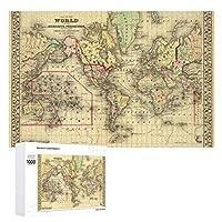 INOV 探検家 海上ルートが付いている世界地図 ジグソーパズル 木製パズル 1000ピース インテリア 集中力 75cm*50cm 楽しい ギフト プレゼント
