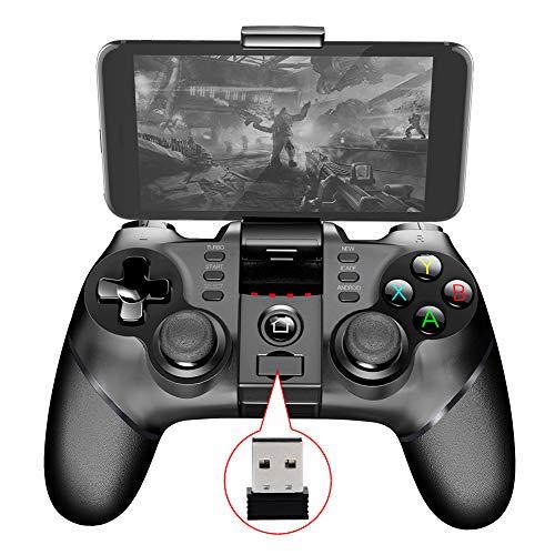 Dunmo Controlador de juego inalámbrico, gamepad móvil del juego de Bluetooth del jugador retro - 2.4G para la tableta del teléfono