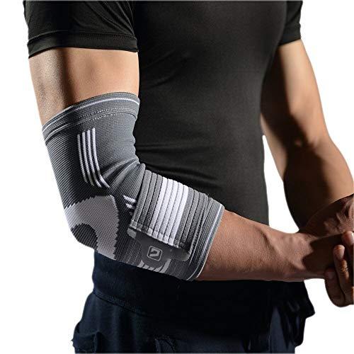 Einstellbare Ellenbogenbandage Liveup Sports Kompressions Ellenbogenbandage Mit Klettverschluss - für Männer & Frauen (L)