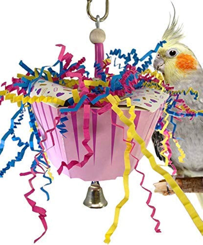 Bonka Bird Toys 1058 Happy Birthday Bird Toy Parred cage Craft Cockatiel Parakeet Budgie Conure Foam Card Accessories chew Shred Forage Aviary Supplies