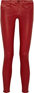 brandMe Women's Leather Pant Genuine Lambskin Skinny Slim fit Leather Pants MP048