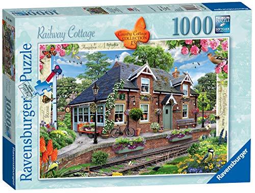 Ravensburger 13989 Country Cottage Landhaus-Kollektion Nr. 13 – Eisenbahn, 1000 Teile,