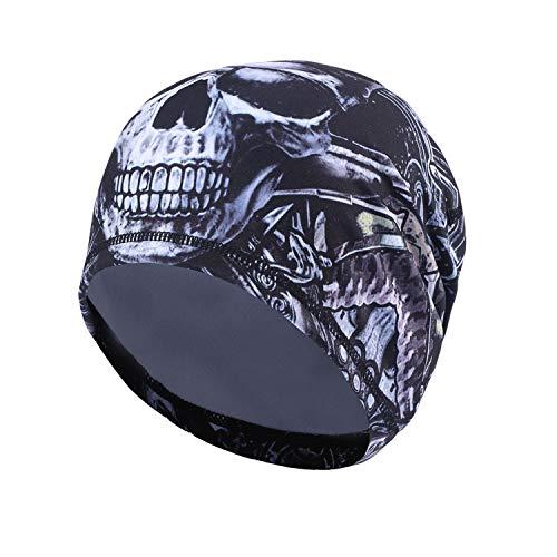 TAGVO Radfahren Skull Cap, Sport Headwear Beanie Hüte mit Ohrenschutz Windproof Helm Liner für Erwachsene Männer und Frauen - Stretchable Fit für die meisten