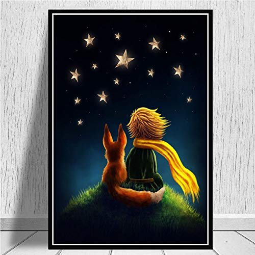 xinyouzhihi Película de Dibujos Animados póster impresión Lienzo Pintura Cuadros Arte de la Pared para Decoraciones de Oficina en casa Sala de Estar Dormitorio 30x40cm Sin Marco