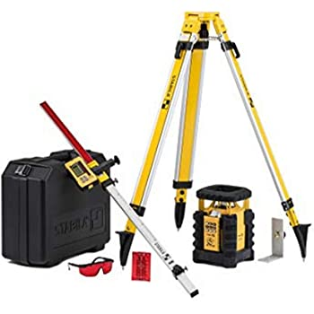 Stabila LAR350 Fully Self-Leveling Rotary Laser 9-piece Kit Interior/Exterior Horizontal, Vertical Levelling, Dual-Slope, Section Mode, LED Assist, Manual Alignment, Motion Control and Plumb Lines