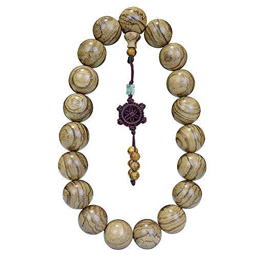 CarpenterC Wunderschönes Rosenholz Gebet Meditation Rosenkranz Perlen Armbänder Ketten für Auto Rückspiegel und Heimdeko Ornamente
