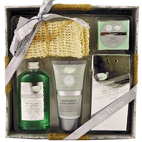 Coffret de bain relaxant au parfum eucalyptus - 5pcs