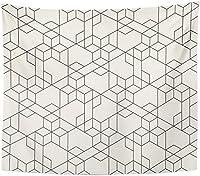細い線を横切る抽象的な幾何学模様星とポリゴンタペストリー壁掛けリビングルーム寝室寮130×150 cm
