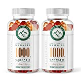 (2-Pack) Hemp Chewy Bears - 1000MG - Active Joint & Muscle Relief, Better Sleep.