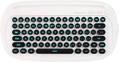 XSYYQYLL Bluetooth-Tastatur 2 4 GHz Wireless-Tastatur BT Ergonomische Tastatur Dual-Mode-Design-Hintergrundbeleuchtung  Farbe White