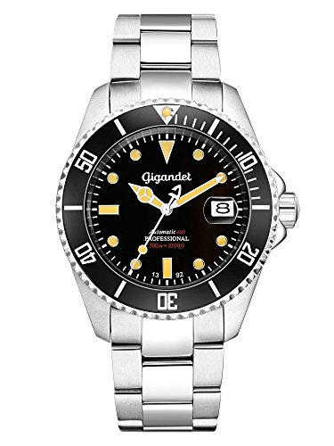 Gigandet Men's Automatic Diver Watch Sea Ground Vintage Analog Stainless Steel 30atm Silver Black G2-007