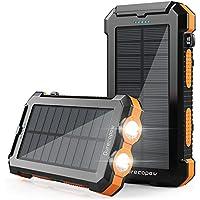Durecopow 30000mAh Portable Solar Power Bank (Orange)