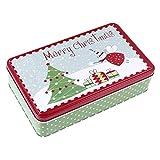 TOYANDONA Lata para galletas de Navidad, de metal, cuadrada, diseño de ángel, caja de regalo para té