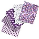 Faden & Nadel 5 x Patchwork Stoffe aus Baumwolle, 50 x 50
