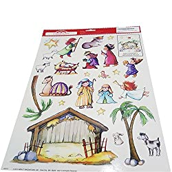 Build Your Own Nativity Scene Window Cling