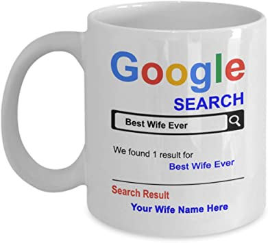 Spreadpassion Personalized Wife Mug 11 Oz Coffee Cup Kitchen Dining