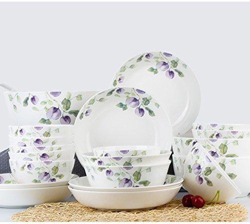GYC Keramikgeschirrset BoneDinnerware Set 22 Porzellan Heiratsgeschirrteller (Color : B)