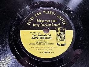 Peter Pan Peanut Butter Davy Crockett Record 1956