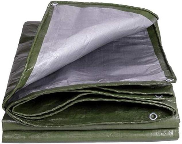 MuMa Bache épaissir Imperméable Imperméable Crème Solaire Ombre Couverture Pluie Personnalisé (Couleur   argent - Army vert, Taille   5  6m)