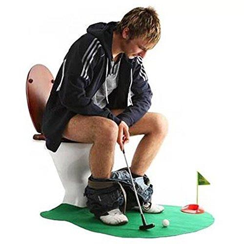 Amasawa Toiletten Golf Set, 6-teilig, Golfschläger, Circa 62 cm,Töpfchen Putter Badezimmer Spiel Neuheit Putting Geschenk Spielzeug Trainer Set. - 7
