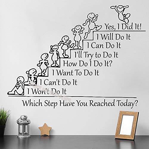 Tianpengyuanshuai Welke stap heb je vandaag gaan? Muurtattoo Team Building wanddecoratie school kantoor folie 84 x 63 cm
