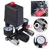 Allright Luftkompressor Druckregler mit Druckschalter Kompressor Druckwächter Kompressorschalter
