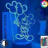 3D LEDナイトランプミッキーマウス空気バルーンフィギュアナイトライトキッズ寝室の装飾LED照明子供用LEDナイトライト