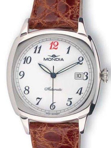 Mondia grande Montre orologio automatico con cinturino coccodrillo 1–593–3