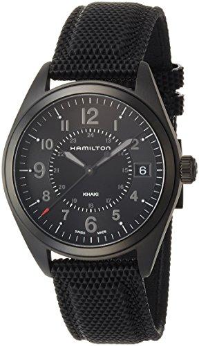 [ハミルトン] 腕時計 カーキフィールド デイト オールブラック H68401735 正規輸入品 ブラック