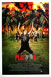 VIETNAM war PLATOON movie poster 1986 WILLEM DAFOE charlie sheen 24X36 GUNS (reproduction, not an original)