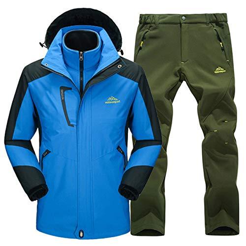 JSGJHXFWinter Skipak voor heren, hoogwaardig merk 2018, ski-jack en -broek, sneeuwwarm, waterdicht, winddicht, ski- en snowboardpakken